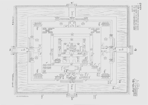 Japanese plan of Angkor Wat from 1715