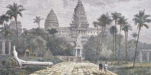 A drawing of Angkor Wat by Henri Mouhot.