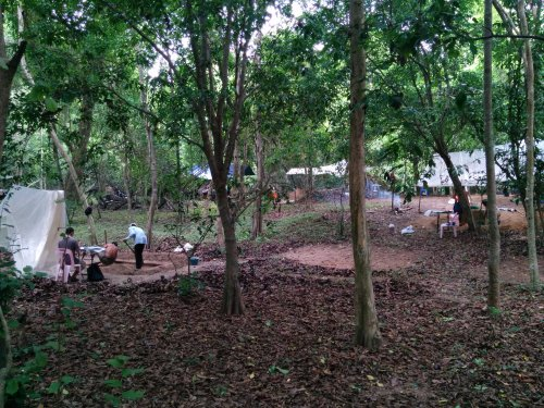 A photo of our excavation trenches within the Angkor Wat enclosure.